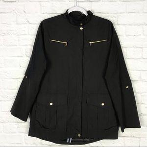 Cole Haan Black ZipUp Light Windbreaker Jacket M